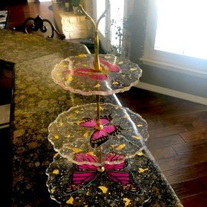 Three tier cup cake holder